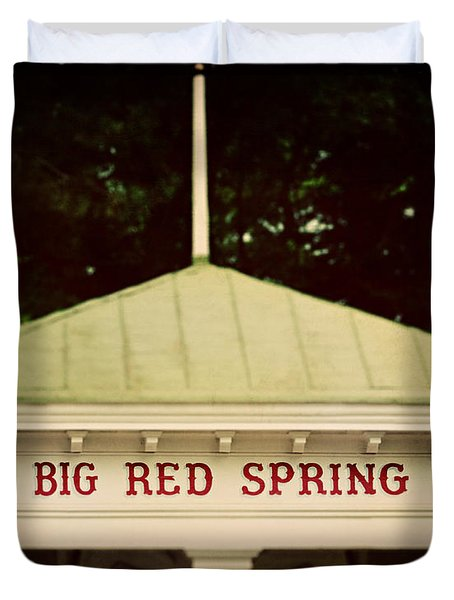 The Big Red Spring Duvet Cover by Lisa Russo