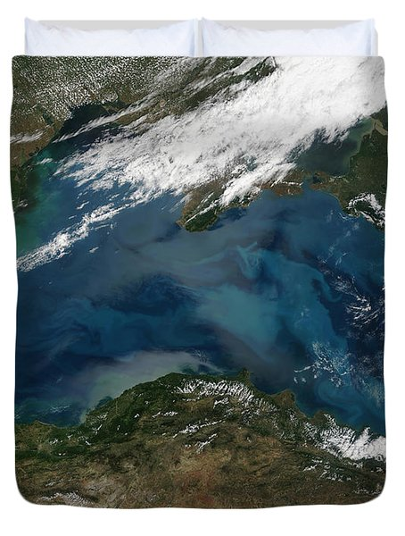 The Black Sea In Eastern Russia Duvet Cover by Stocktrek Images