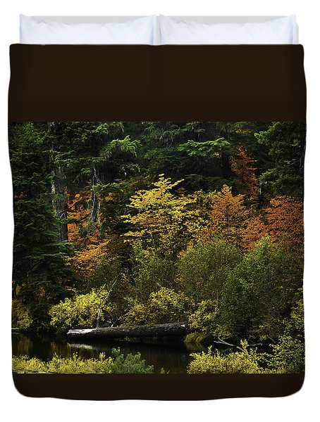 The Boldness Of Autumn Duvet Cover by Diane Schuster