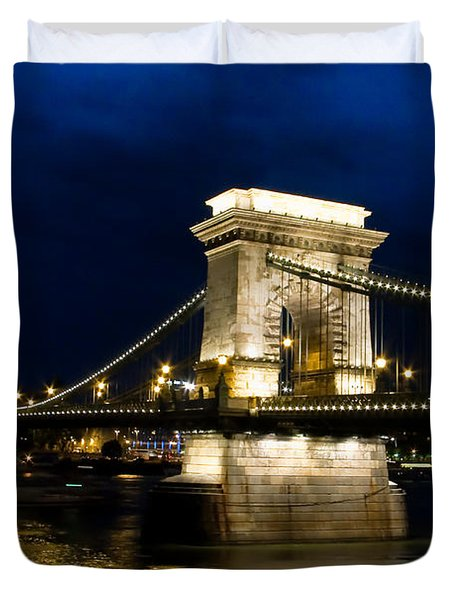 The Bridge Across Duvet Cover by Syed Aqueel