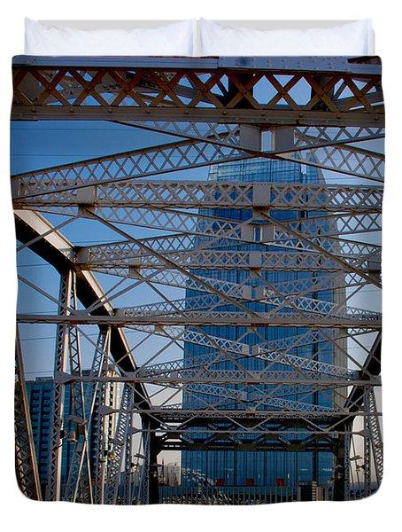 The Bridge In Nashville Duvet Cover by Susanne Van Hulst
