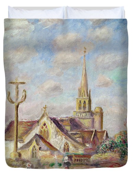 The Calvary At Pont Aven Duvet Cover by Pierre Auguste Renoir