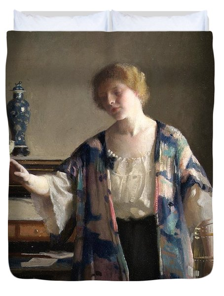 The Canary Duvet Cover by William McGregor Paxton
