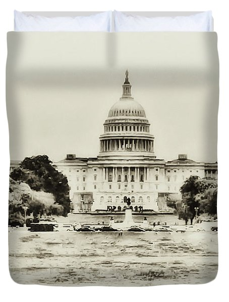 The Capital Bulding Duvet Cover by Bill Cannon