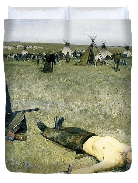The Captive Duvet Cover by Henry Francois Farny