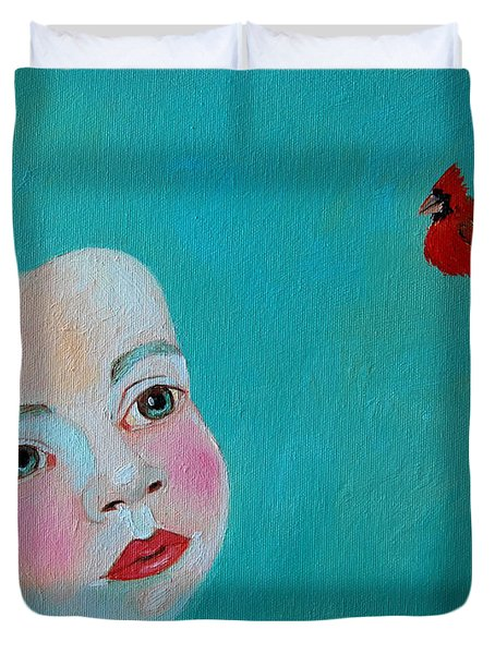 The Cardinal's Song Duvet Cover by Ana Maria Edulescu