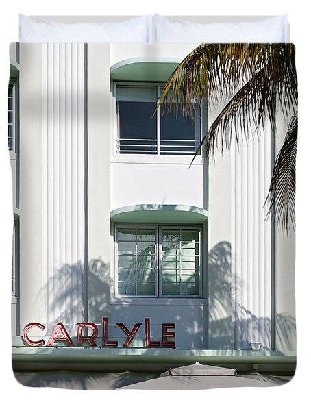 The Carlyle Hotel 2. Miami. Fl. Usa Duvet Cover