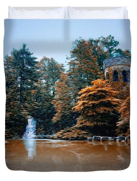 The Castle At Longwood Gardens Duvet Cover