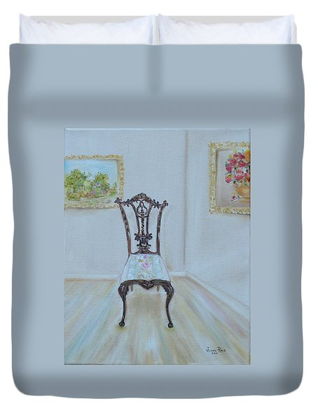 The Chair Duvet Cover by Judith Rhue