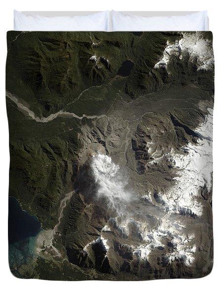 The Chaitén Volcano Duvet Cover