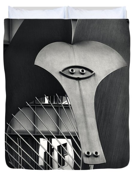 The Chicago Picasso Duvet Cover by Adam Romanowicz