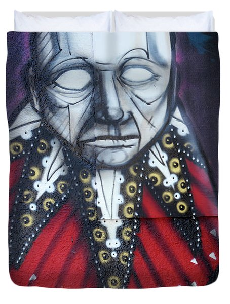The Chief Duvet Cover by Bob Christopher