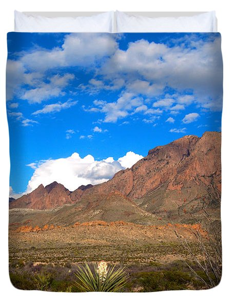 The Chisos Mountains Big Bend Texas Duvet Cover by Gregory G Dimijian MD