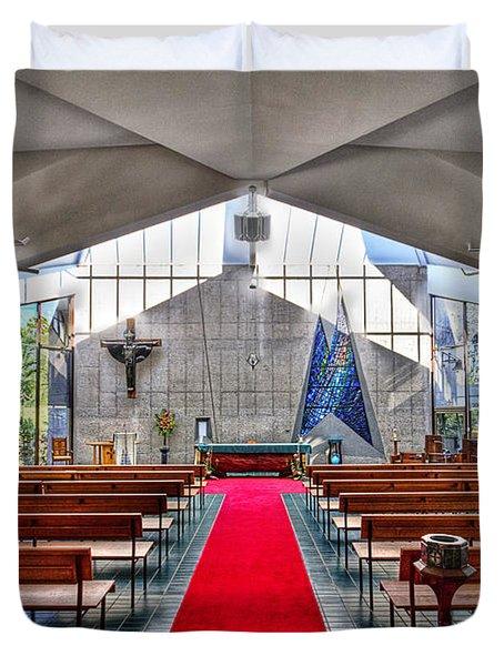 The Church Of Natural Light Hdr Duvet Cover by Douglas Barnard