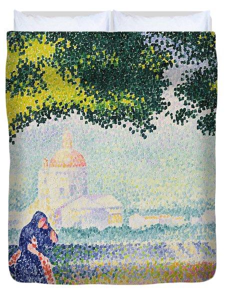 The Church Of Santa Maria Degli Angeli Duvet Cover by Henri-Edmond Cross