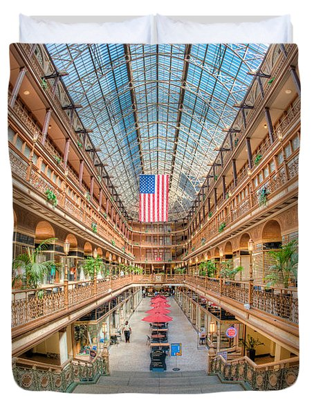 The Cleveland Arcade IIi Duvet Cover by Clarence Holmes