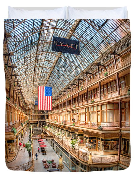 The Cleveland Arcade Iv Duvet Cover by Clarence Holmes