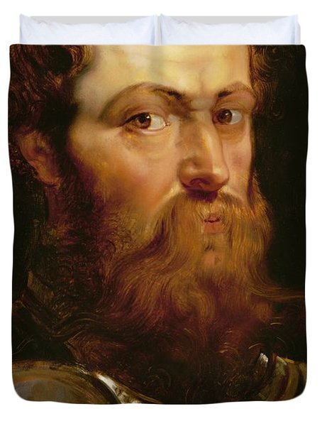 The Commander's Head  Duvet Cover by Peter Paul Rubens