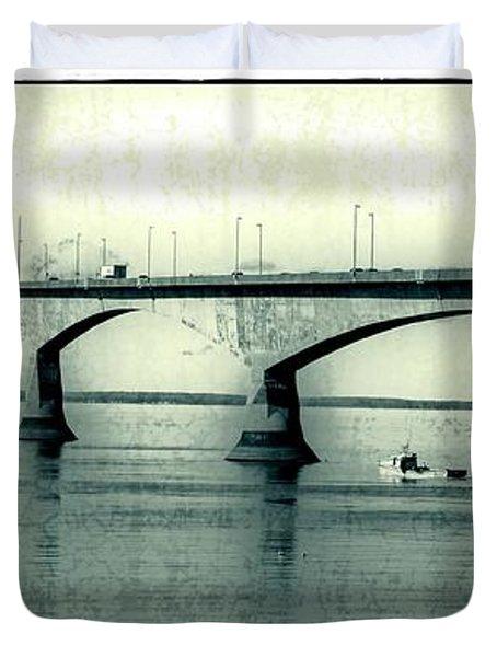 The Confederation Bridge Pei Duvet Cover by Edward Fielding