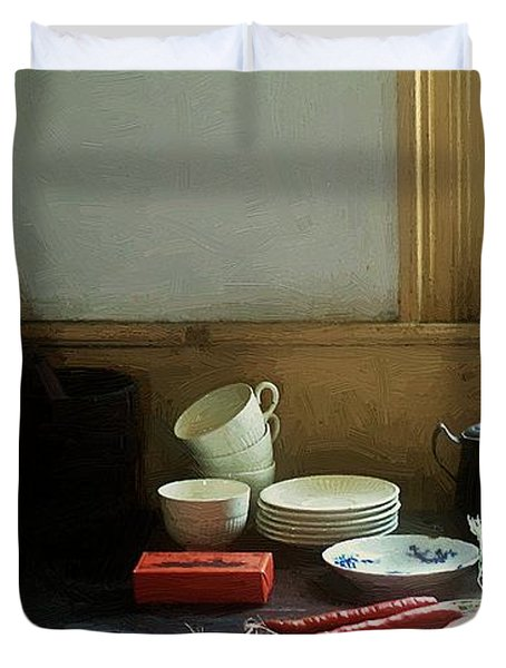 The Cook's Table Duvet Cover by RC deWinter