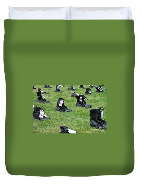 The Cost Of War Duvet Cover by Chalet Roome-Rigdon