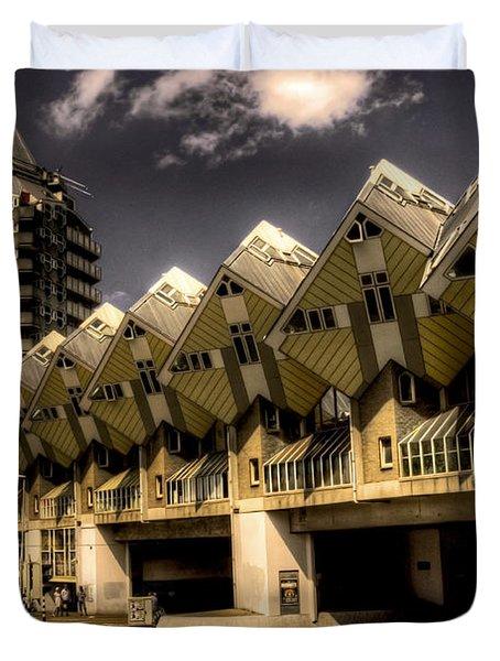 The Cube House  Duvet Cover
