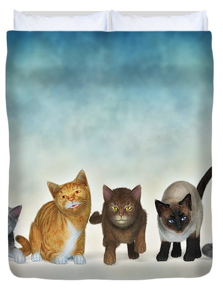 The Cute Ones Duvet Cover by Jutta Maria Pusl