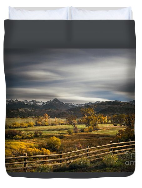The Dallas Divide Duvet Cover