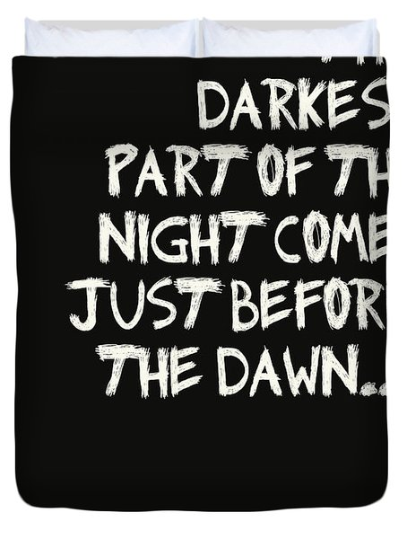 The Darkest Part Of The Night Duvet Cover by Georgia Fowler