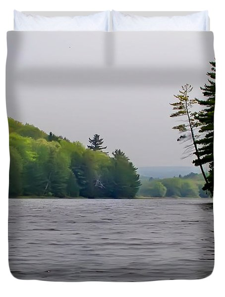 The Delaware River Duvet Cover by Bill Cannon