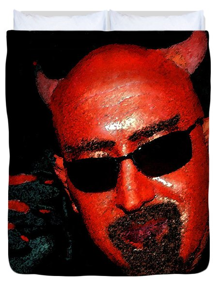 The Devil You Say Duvet Cover by David Lee Thompson