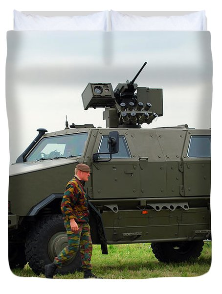 The Dingo II In Use By The Belgian Army Duvet Cover by Luc De Jaeger
