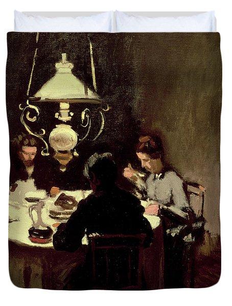 The Dinner Duvet Cover by Claude Monet