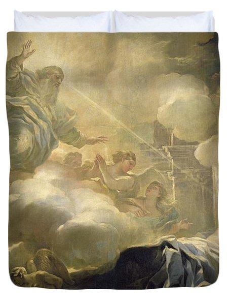 The Dream Of Solomon Duvet Cover by Luca Giordano