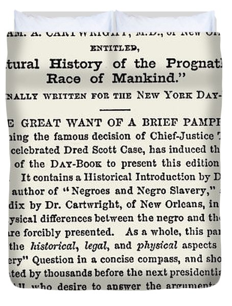 The Dred Scott Decision, 1857 Duvet Cover by Photo Researchers