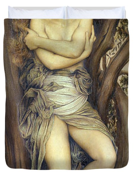 The Dryad Duvet Cover by Evelyn De Morgan