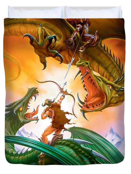 The Duel Duvet Cover by The Dragon Chronicles