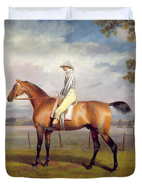 The Duke Of Hamilton's Disguise With Jockey Up Duvet Cover by George Garrard