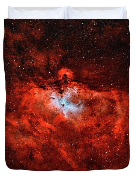 The Eagle Nebula In The Constellation Duvet Cover by Rolf Geissinger