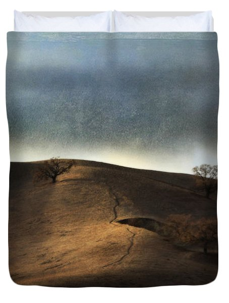 The Earth Moved When You Loved Me Duvet Cover by Laurie Search