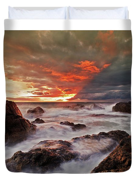 The Edge Of The Storm Duvet Cover