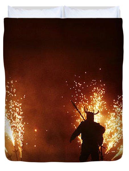 The Emergence Of The Devil Duvet Cover