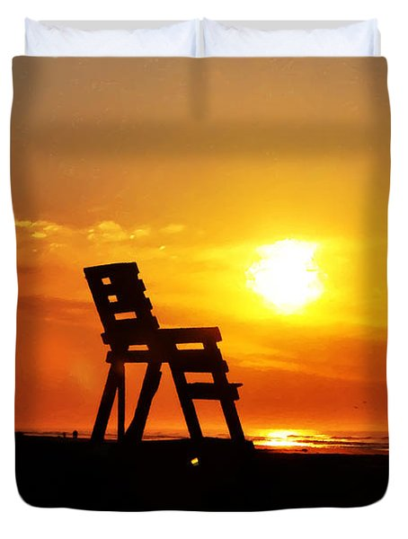 The End Of The Summer Duvet Cover by Bill Cannon