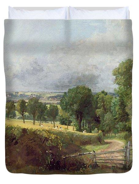 The Entrance To Fen Lane By Constable John Duvet Cover by John Constable