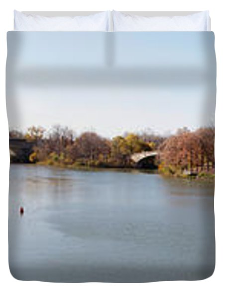 Duvet Cover featuring the photograph The Erie Canal Crossing The Genesee River by William Norton
