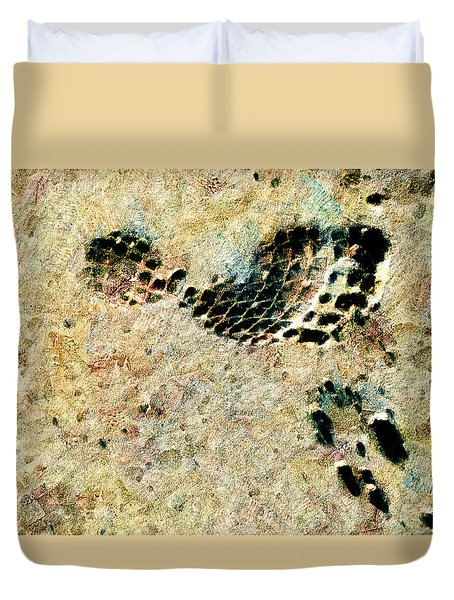 Duvet Cover featuring the digital art The Evolution Of Man by Steve Taylor