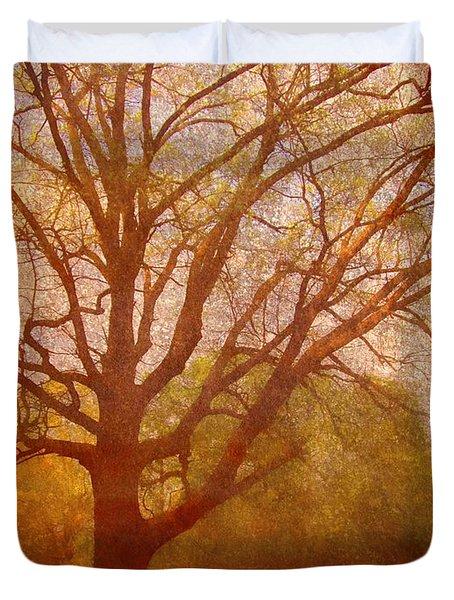 The Fairy Tree Duvet Cover by Brett Pfister