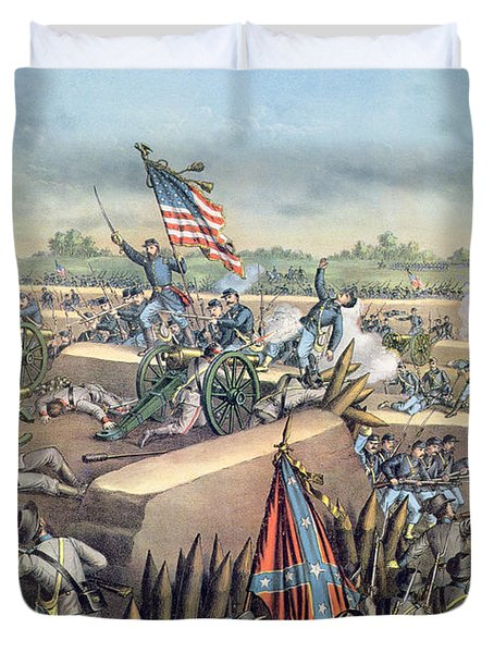 The Fall Of Petersburg To The Union Army 2nd April 1965 Duvet Cover by American School
