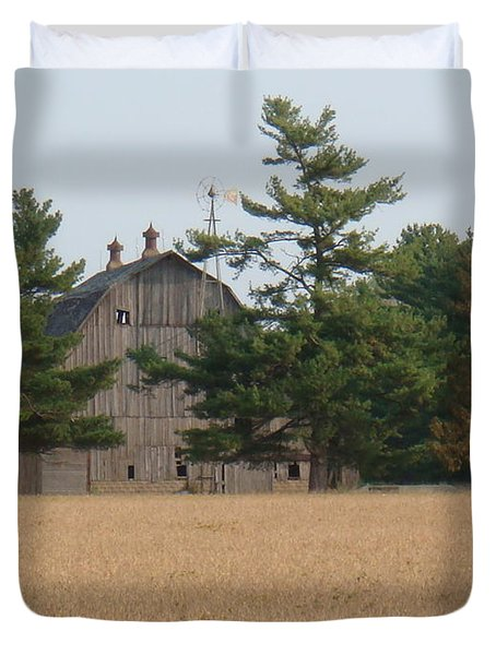 Duvet Cover featuring the photograph The Farm by Bonfire Photography