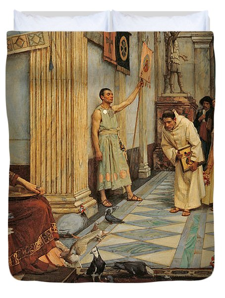 The Favourites Of Emperor Honorius Duvet Cover by John William Waterhouse